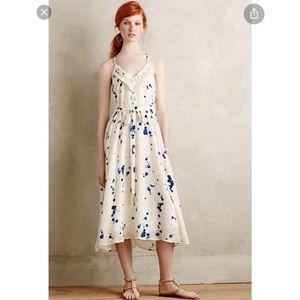 Anthropologie Maeve inkblot midi dress
